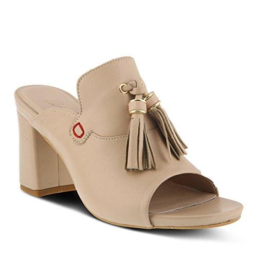 Azura Kvinna Stil Brunilda Läder Slide Sandal Beige