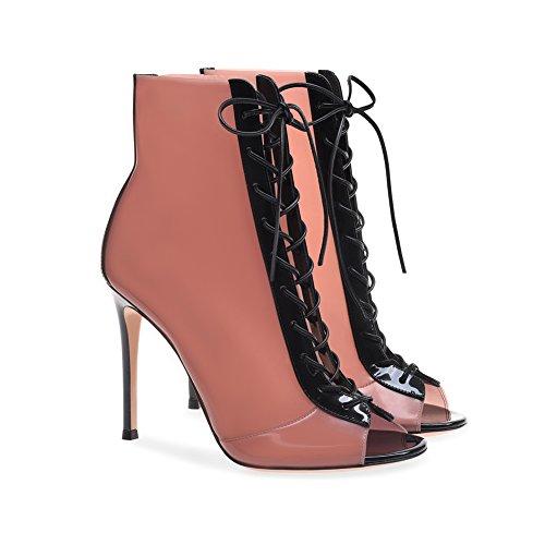 Soirée Plateforme De Mariage Taille De Sexy Haut 3889 Pink Croisées Femme Sangles 43 Fête Club TLJ Transgenre Grande KJJDE Sandales Talon Mode ZwTACqn
