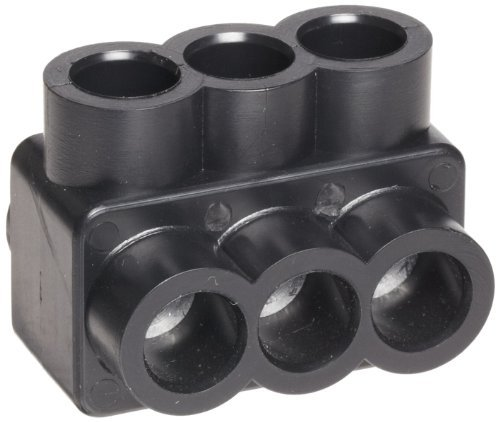 Black Insulated Multi-Cable Connector - Single Entry 3 Ports 4 - 14 (Pkg of 2)