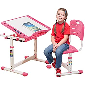 Amazon Com Mecor Kids Desk And Chair Study Table For