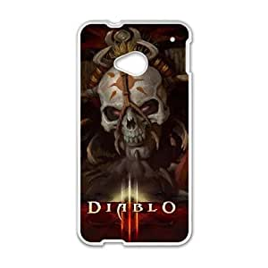 Diablo III HTC One M7 Cell Phone Case White PSOC6002625735682