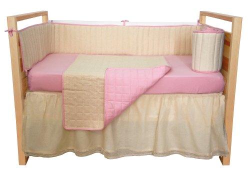 UPC 082072503825, Tadpoles Organic Waffle Weave 4 Piece Crib Set - Pink