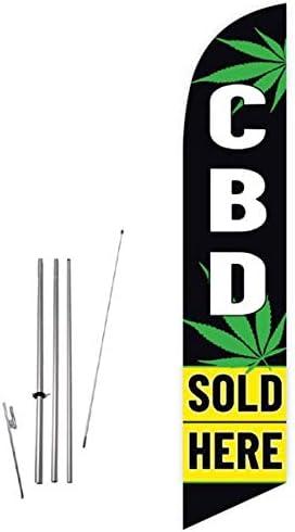CBD VAPE KIT SOLD HERE Feather Swooper Flutter Flag vertical banner