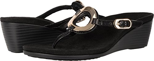 Vionic Women's Orchid Arch Support Thong Wedge Sandal Bla...