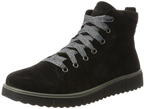 Legero Campania, Sneaker a Collo Alto Donna Schwarz (Schwarz Multi)