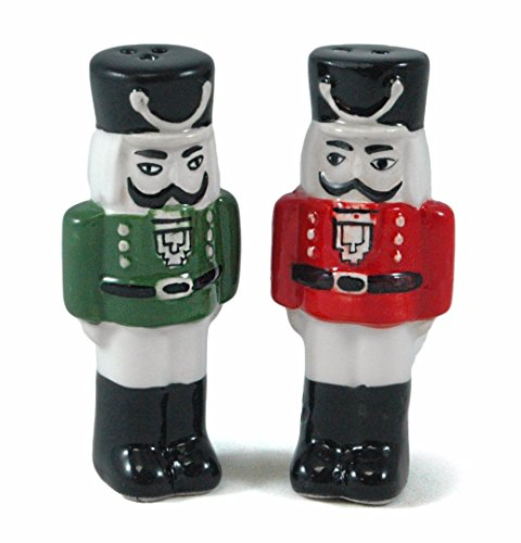 Nutcracker Green Ceramic Pepper Shaker