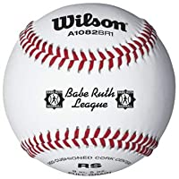 Béisbol Wilson A1082 Babe Ruth League Series (paquete de 12), blanco