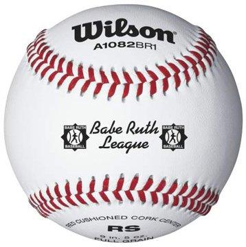 Wilson A1082 Babe Ruth League Series Baseball (12-Pack), White by Wilson