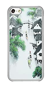 iPhone 5C Case,VUTTOO Stylish Chinese Painting Hard Case For Apple iPhone 5C - PC Transparent