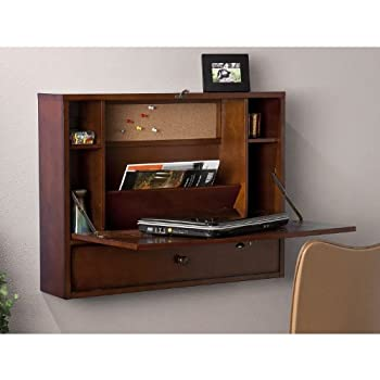 SEI Southern Enterprises Willingham Wall Mount Folding Laptop Desk