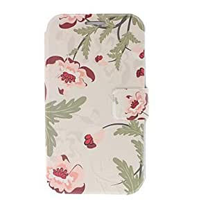 TOPQQ Small Fresh Pink/Red Flowers Leather Case with Stand for Samsung Galaxy Note 2 N7100