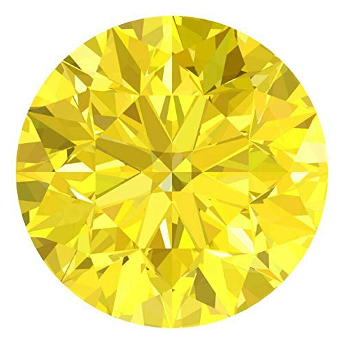 CERTIFIED 1.4 MM / 0.0125 Cts. Natural Loose Diamonds, Pack of 10, Fancy Yellow Color Round Brilliant Cut SI1-SI2 Clarity 100% Real Diamonds by IndiGems