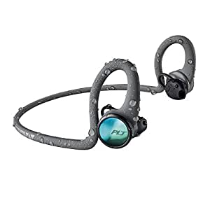 Plantronics BackBeat FIT 2100 Wireless Headphones, Sweatproof and Waterproof In Ear Workout Headphones, Grey - 212201-99
