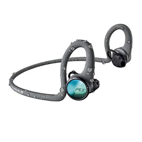 Plantronics BackBeat FIT 2100 Wireless Headphones, Sweatproof and Waterproof in Ear Workout Headphones, Grey