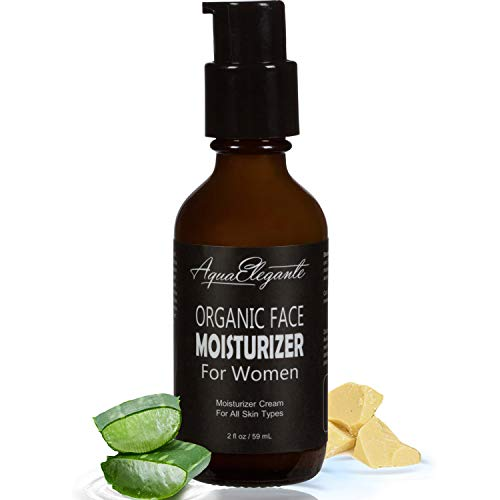 Organic Face Moisturizer for Women - Natural Anti-Aging Vegan Facial Cream - Promote Collagen In Skin And Reduce Eye Wrinkle With Vitamins In Moisturizing Lotion