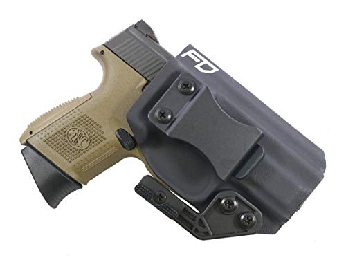 Fierce Defender IWB Kydex Holster FN FNS 9 Compact The Paladin Series -Made in USA- (Black)