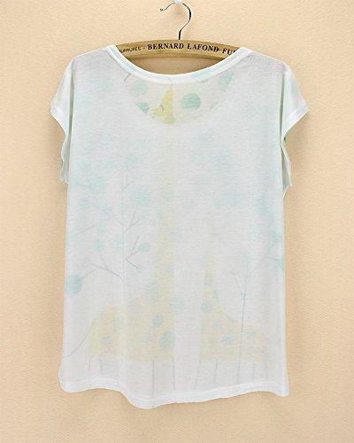 de de Camiseta con moda corta poli Acvip manga de mujer dq8Aw8HF