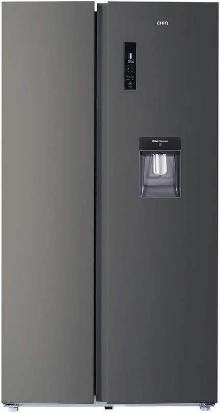 CHiQ Amerikaanse Koelkast FSS559NEI42D | 559L | Inverter compressor | No frost | Dark Inox | A++ | 42db | Waterdispenser