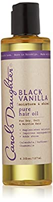 Carols Daughter Black Vanilla Moisture & Shine Pure Hair Oil, 4.3 Ounce