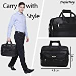 Trajectory Elegant Black Messenger and Laptop Bag for Professionals with Improved Rust Free Buckle(1 Year Warranty)