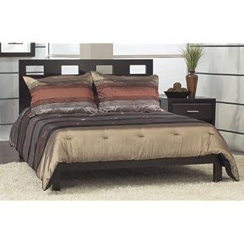 Modus Furniture RV23F5 Riva Platform Bed, Queen, Espresso