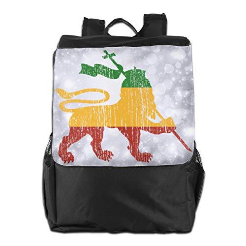 Lion Of Judah Rasta Travel Backpack Adjustable Women's Men Shoulders Bags For Camping