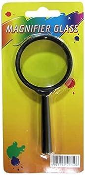Imagen deDe la lupa, lupa, marco de plástico, 45 mm de diámetro en el exterior, para mango de 60 mm de pelo largo, de colour negro, de piel de protector de pantalla de cristal