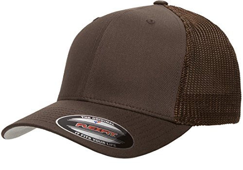 6511 Flexfit Trucker Mesh Cap - Clear Men Logo