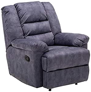 Zoy Leamon Fabric Recliner - Blue