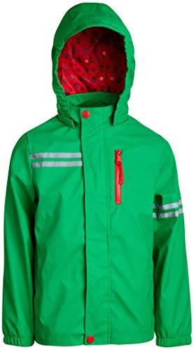 Green Boys Raincoat - Urban Republic Boys Lightweight Waterproof Hooded Vinyl Raincoat Jacket, Green, Size 10/12'