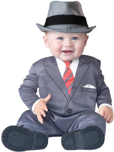InCharacter Baby Boy's Businessman Costume, Grey, (Infant Gangster Costume)