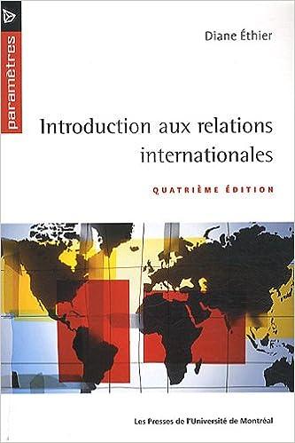 Livres Introduction aux relations internationales pdf