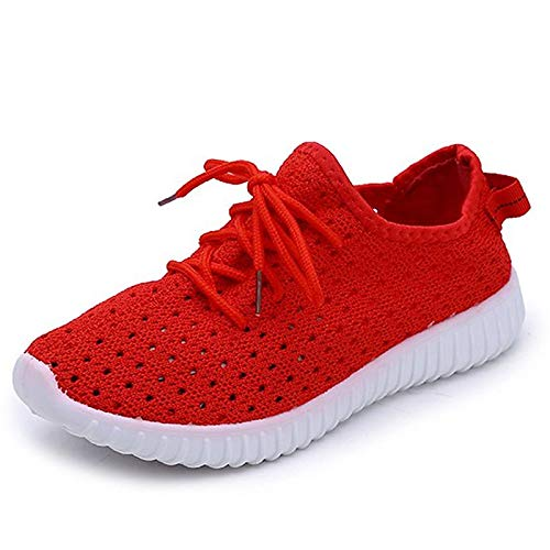 Red Shoes Red Pink Round Flat Spring Comfort Tulle Heel Sneakers ZHZNVX Blue Women's Toe v5SHwqx6