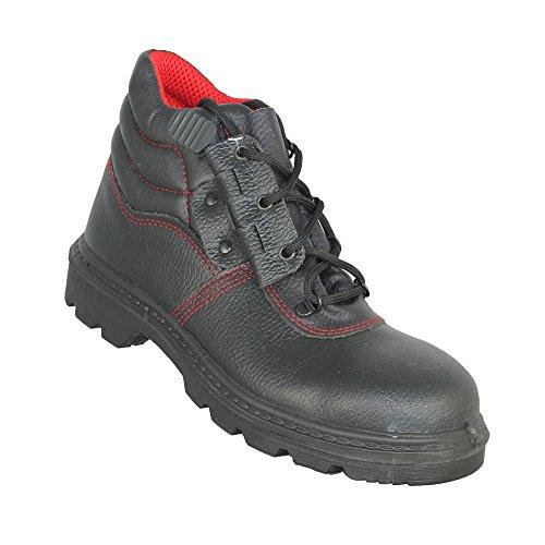 Almar - Chaussures De Sécurité En Cuir Pour Les Hommes, Couleur Noire, Taille 40