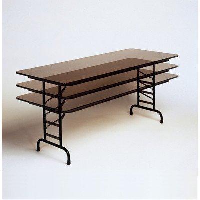 - Standard Adjustable Height Folding Table (30 in. x 60 in./Black Granite)