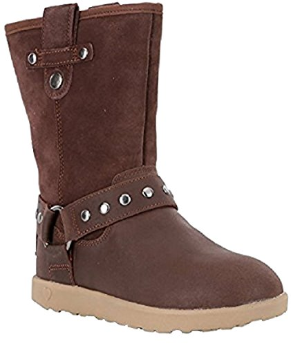UGG Girls Moto Short Boot Chocolate Size 4 M US Big Kid by UGG