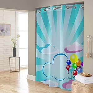 Right Canvas Light Blue 180cm x 200cm Shower Curtain - RG138NPIC00099