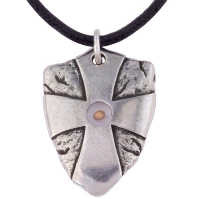 Necklace-Mustard Seed Shield w/24