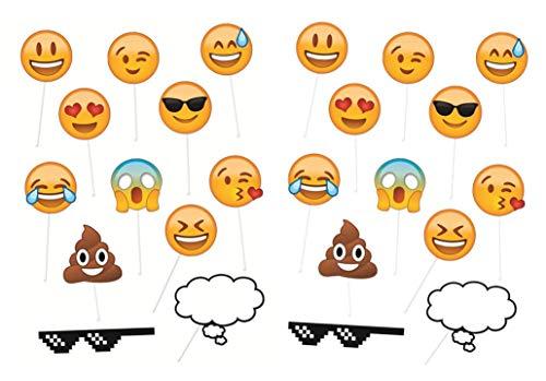 Emoji photobooth props - 24 pack -