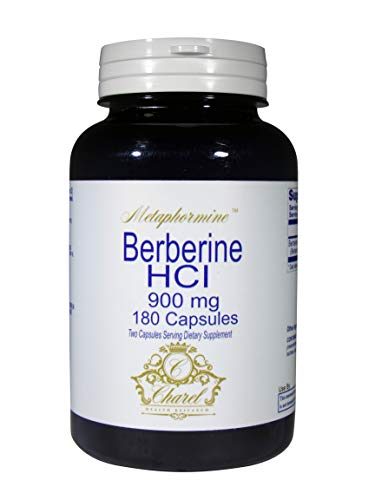 Metaphormine | Natural Berberine HCl 900mg | Dietary Supplement for Healthy Heart and Blood Sugar Support | Gluten Free Capsules | Powerful Berberine Health Formula | 180 Capsules