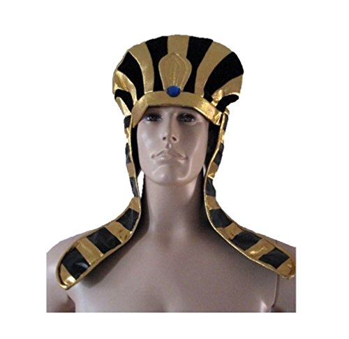 Private Island Egyptian Pharoah Black & Gold Headpiece Costume HAT -