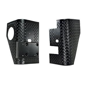 Rugged Ridge 11650.02 Black Diamond Plate Thermoplastic Rear Tall Corner - Pair