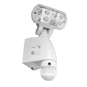 led31sd – Foco LED con detector de movimiento y cámara color blanco Interior Exterior tarjeta SD