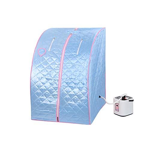 2l Portable Steam Sauna Tent SPA Detox Weight Loss w/ Chair (Blue)