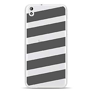 Carcasa rígida para HTC Desire 816con impresión diseño de bandas grises