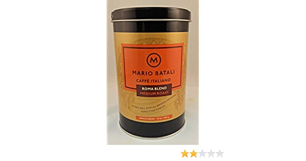 Amazon.com : Mario Batali Caffe Italiano Roma Blend Medium Roast Whole Bean Coffee 10 oz : Grocery & Gourmet Food