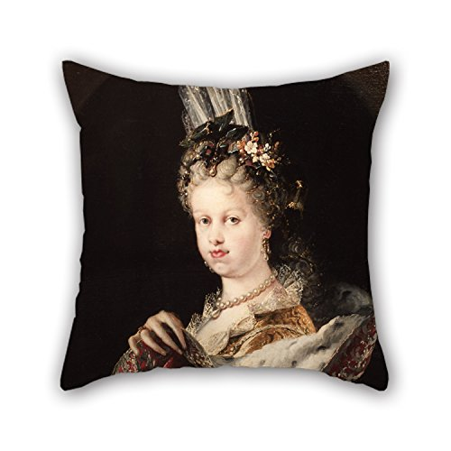 Oil Painting Mel???ndez, Miguel Jacinto - Portrait Of Queen Mar???a Luisa Gabriela De Saboya Throw Cushion Covers 20 X 20 Inches / 50 By 50 Cm Best Choice For Son Living Room Festival Sofa H (Del Mar Sectional Sofa)