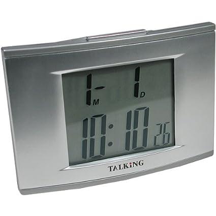 Talking 4 – Reloj despertador con retroiluminación electroluminiscente