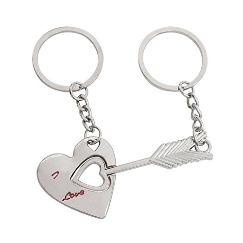 2 PCS Couple Lovers Keychain Bow and an Arrow to Wear Heart