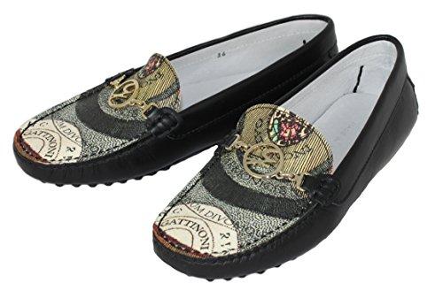 Cattinoni Damen Schuhe Shoe Mokassins Leder Gr.37-40 202 schwarz